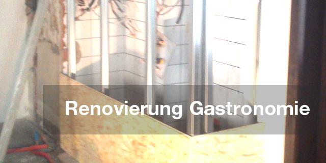 Renovierung einer Gastronomie